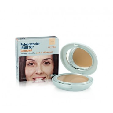 ISDIN FOTOPROTECTOR SPF 50+ MAQUILLAJE COMPACTO OIL-FREE ARENA 10 G